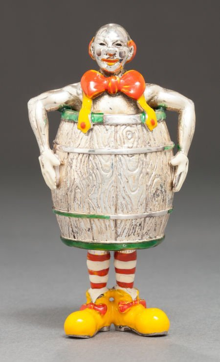 68004: A TIFFANY & CO. SILVER AND ENAMEL CIRCUS CLOWN D