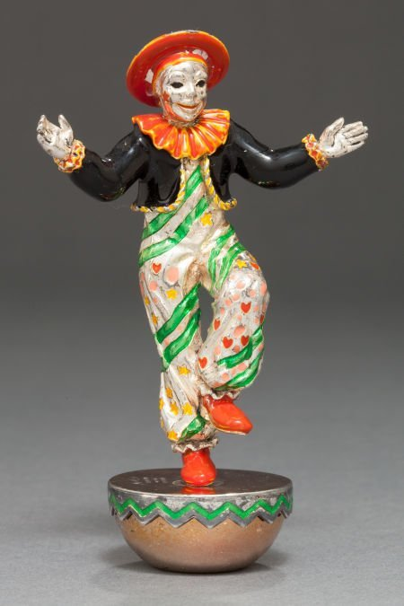 68011: A TIFFANY & CO. SILVER AND ENAMEL CIRCUS CLOWN D