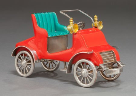 68019: A TIFFANY & CO. SILVER AND ENAMEL CIRCUS CAR DES