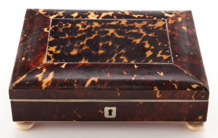 66008: A VICTORIAN TORTOISESHELL, IVORY AND SILVER BOX