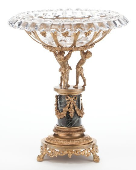 66133: A FRENCH LOUIS XVI-STYLE GILT BRONZE, MARBLE AND