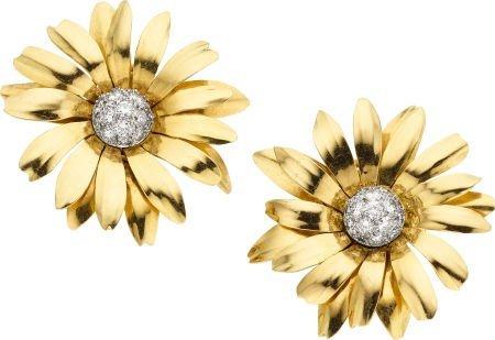 58001: Diamond, Gold Earrings, Cartier, French