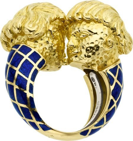 58004: Enamel, Gold Ring, David Webb