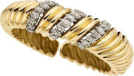 58008: Diamond, Gold, Platinum Bracelet