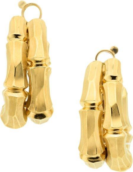 58013: Gold Earrings, Cartier