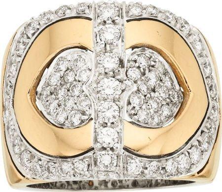 58021: Diamond, Gold Ring, French