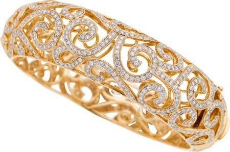 58022: Diamond, Gold Bracelet