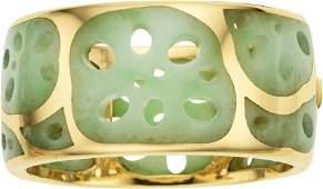 58297: Jadeite Jade, Gold Bracelet, Angela Cummings for