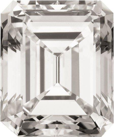 58611: Unmounted Emerald-cut Diamond, Type IIa