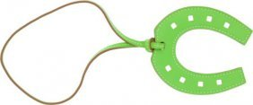 Hermes Vert Cru Leather Large Horseshoe Charm