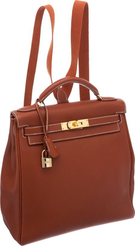56023: Hermes 28cm Etrusque Fjord Leather Kelly Ado Bac