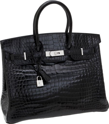 56137: Hermes Extraordinary Collection 35cm Diamond, Sh
