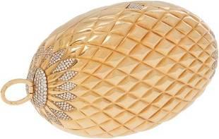 56384: Gucci Stunning Solid 18K Yellow Gold & Diamond M