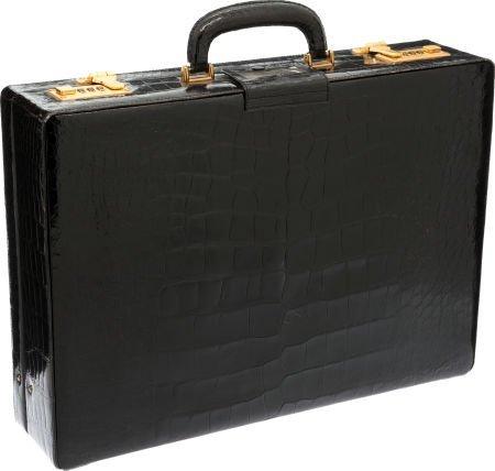56484: Asprey Black Alligator Briefcase  - 2