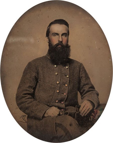 52003: Beautiful Sixth Plate Ambrotype of Capt. George
