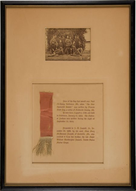 52004: Framed Group of Two Items Related to Maj. Willia