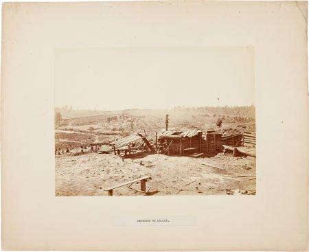 """52008: Important Civil War Albumen View, """"The Defences"""