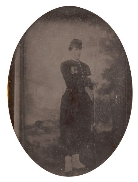52012: Quarter Plate Early War Tintype Of A Federal Zou