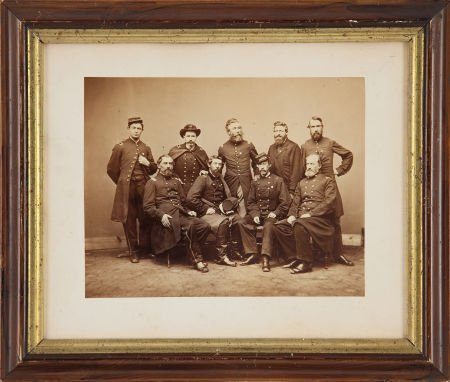 52013: Great Albumen Portrait Of The Officer's Of The 1