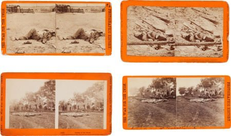 52014: Scarce Group Of Four Stereo Views Of Civil War D