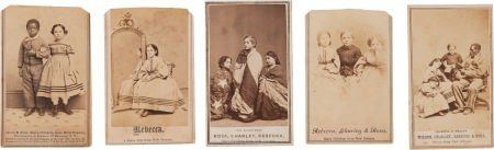 52015: Group of Five Carte-De-Visite Views of the 'Slav