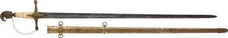Circa 1845 U.S. Militia Staff Officer's Sword.