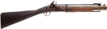 32018: English-Style Brass-Barreled Flintlock Blunderbu