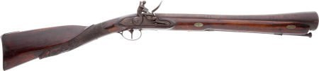 32019: Unmarked Flintlock Blunderbuss with Carved Butts