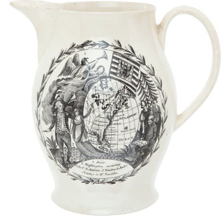 38006: George Washington: Presidential Liverpool Jug.
