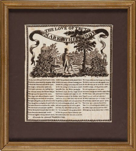 38009: George Washington: 1806 Commemorative Textile.