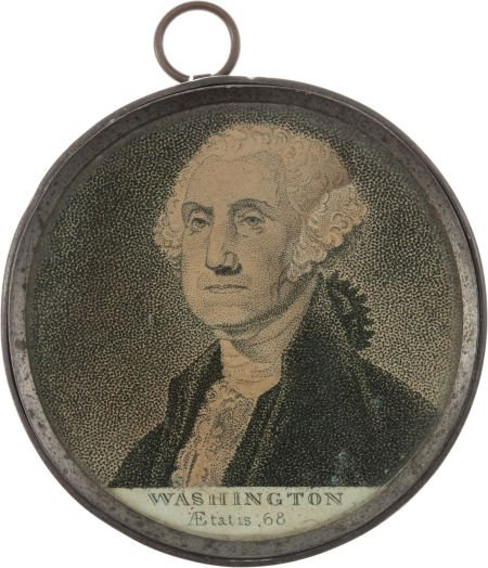 38011: George Washington: Memorial Pewter Rim Medallion