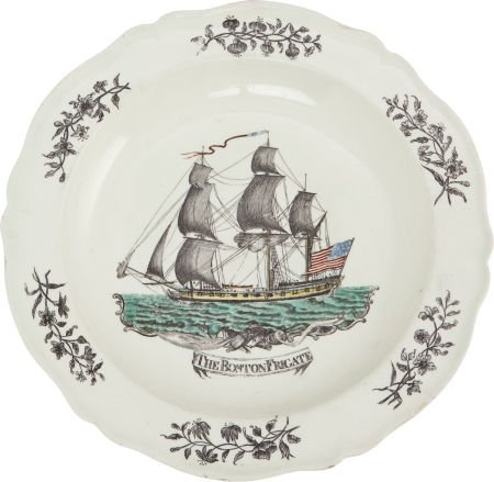 38013: Boston Frigate Liverpool Plate.