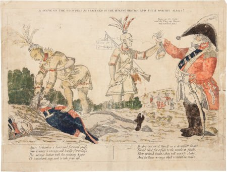 38014: War of 1812: Anti-British Indian Scalping Scene