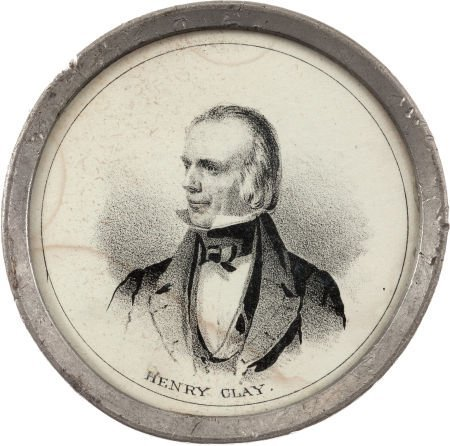 38018: Henry Clay: Pewter Rim Mirror.