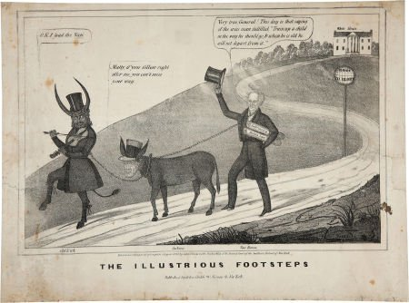 38023: William Henry Harrison: Anti-Van Buren Cartoon.