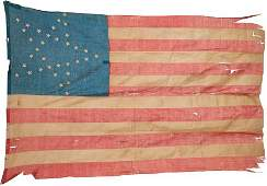 38073: Abraham Lincoln: Funeral-Used 34-Star U.S. Flag.