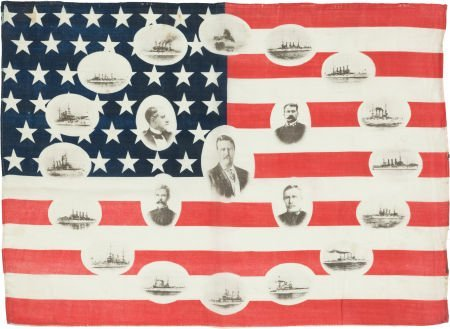 38188: Theodore Roosevelt: Great White Fleet Flag.