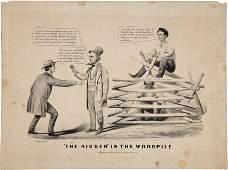 38081 Abraham Lincoln Currier  Ives Cartoon