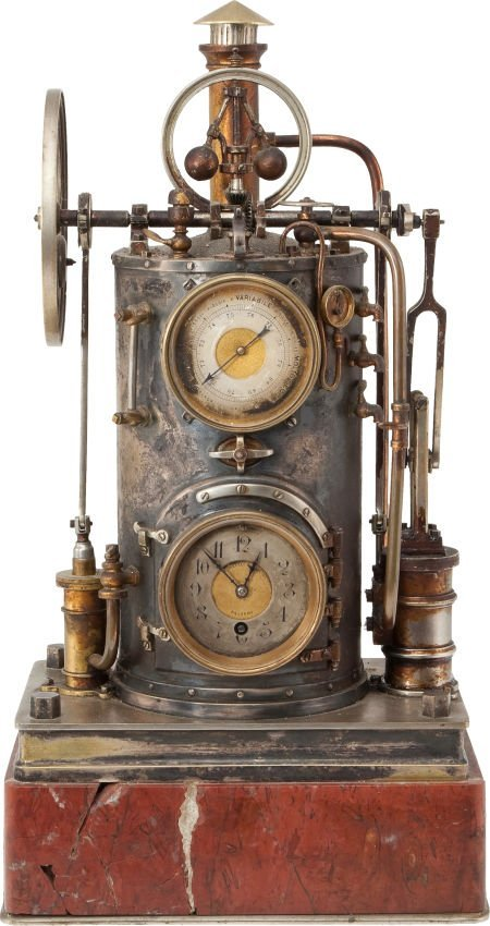 38327: Circa 1885 Industrial Series Mechanical Clock Ba