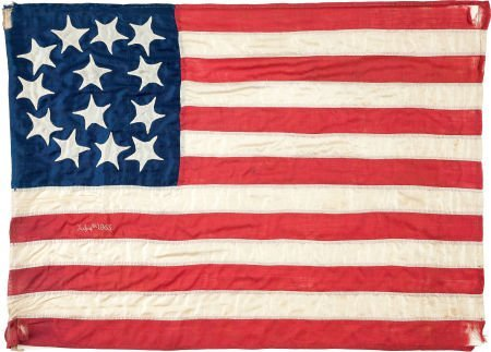 38333: Flags: 13-Star July 4th 1865 Flag.