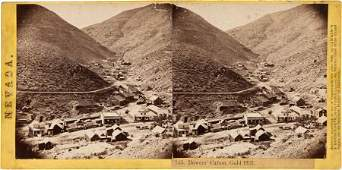 38857 Albumen Stereoview Bowers Canyon Gold Hill W