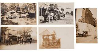 38893: Real Photo Postcards: Five California Stagecoach