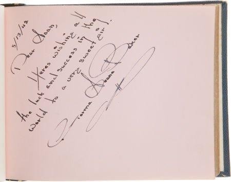 46005: A Norma Jeane Baker Signature, 1942.