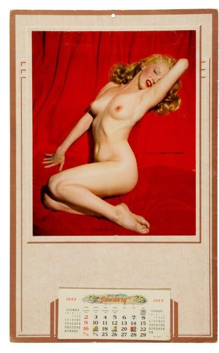 46010: A Marilyn Monroe Nude Calendar, 1955.
