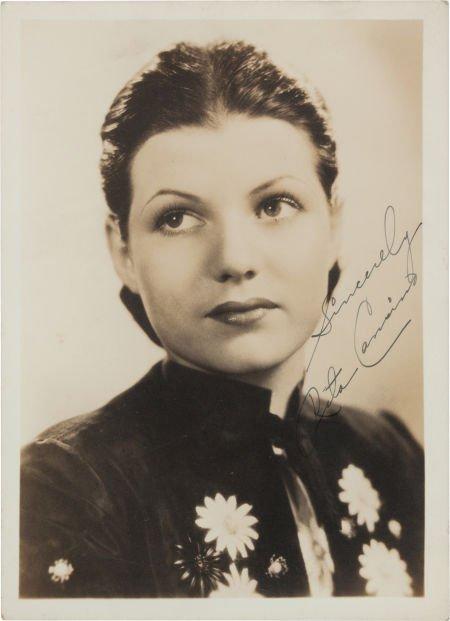 46013: A Rita Hayworth Signed Black and White Photograp