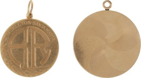 46018: A Rosalind Russell Set of Gold Medallions, 1940,