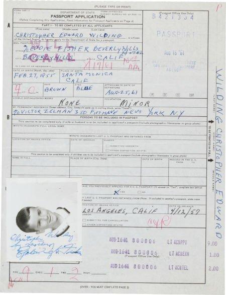 46022: An Elizabeth Taylor Twice-Signed Document, 1961.