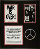 "46440: Beatles - John Lennon ""War is Over"" Postcard Dis"