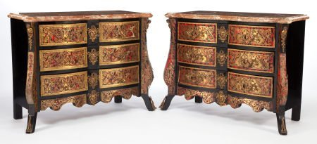 86021: A PAIR OF FRENCH RÉGENCE-STYLE EBONIZED WOOD, BR