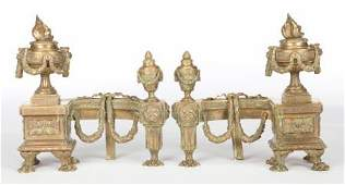 86050 A PAIR OF FRENCH LOUIS XVISTYLE GILT BRONZE CHE